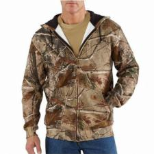 Carhartt Work Camo Hooded Zip Front Sweatshirt - Irregular K289irr