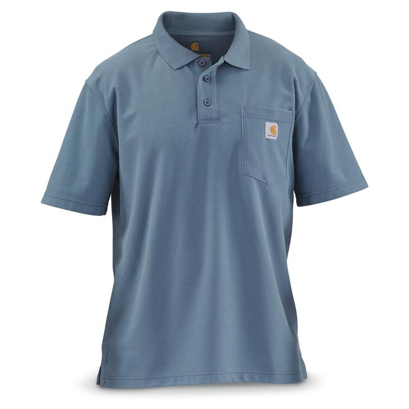 Carhartt Men's Contractors Washed Work Pocket Polo - Irre...