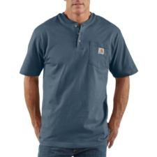 Carhartt K84 Men's Short Sleeve Workwear Henley Irregular K84IRR