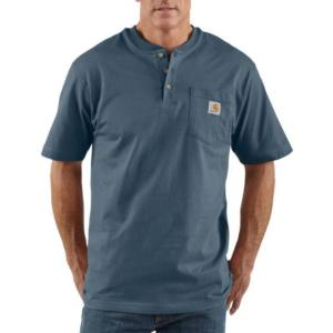 Carhartt K84 Men's Short Sleeve Workwear Henley - Irregular