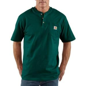 Carhartt K84 Men's Short Sleeve Workwear Henley - Irregular