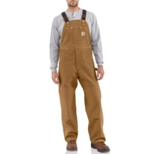 Carhartt Duck Unlined Bib Overalls - Irregular