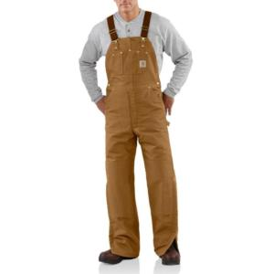 Carhartt Quilt Lined Duck Bib Overalls - Irregular