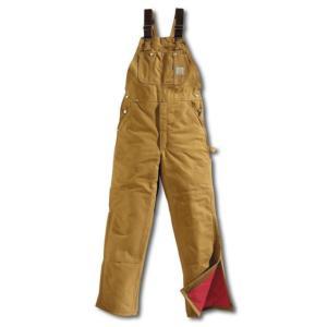 Carhartt Men's Duck Bib Overalls - Quilt Lined