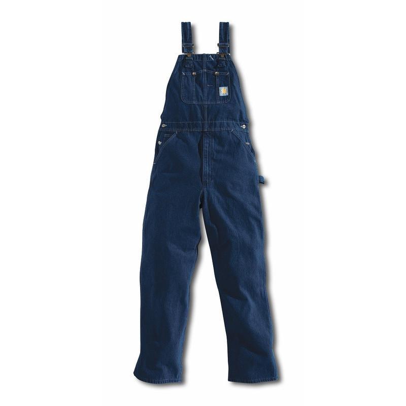 Carhartt Men's Washed Denim Bib Overalls