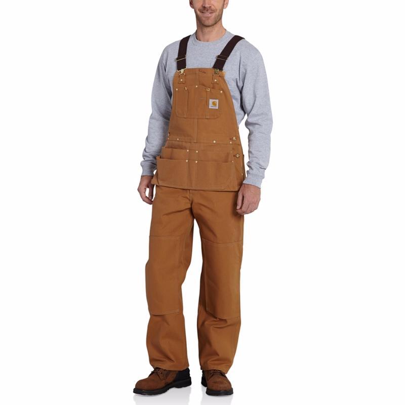 Carhartt Duck Carpenter Bib Overalls-Irregular