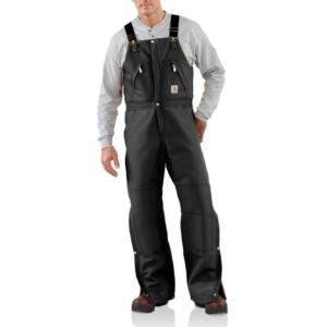 Carhartt Men's Duck Zip to Waist Biberall - Quilt Lined