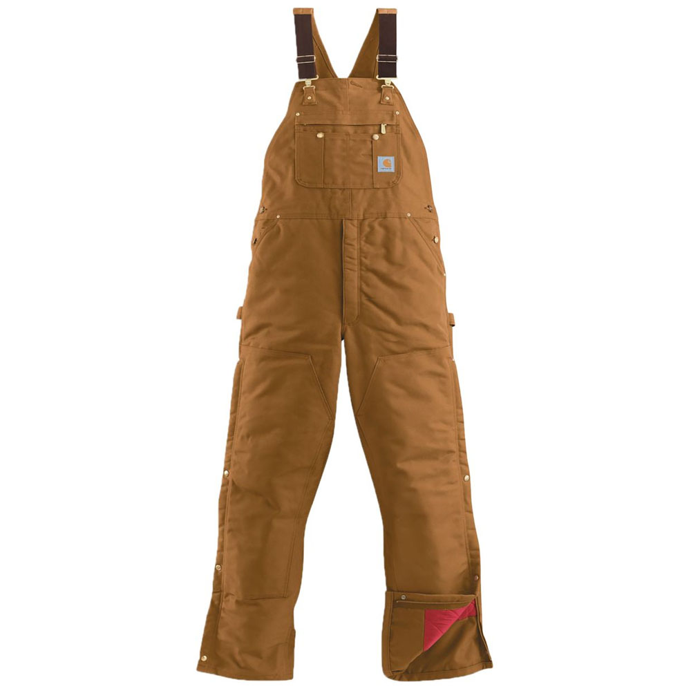 Carhartt Men/'s Quilt Lined Zip To Thigh Bib Overalls R41