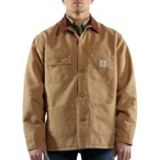 Carhartt_Carhartt Men's Naturally Worn Duck Chore Coat-Blanket Lined -Irregular