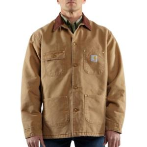Carhartt Men's Naturally Worn Duck Chore Coat-Blanket Lined -Irregular