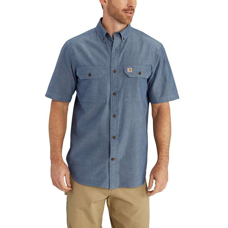 Carhartt Men 39 S Short Sleeve Chambray Shirt S200