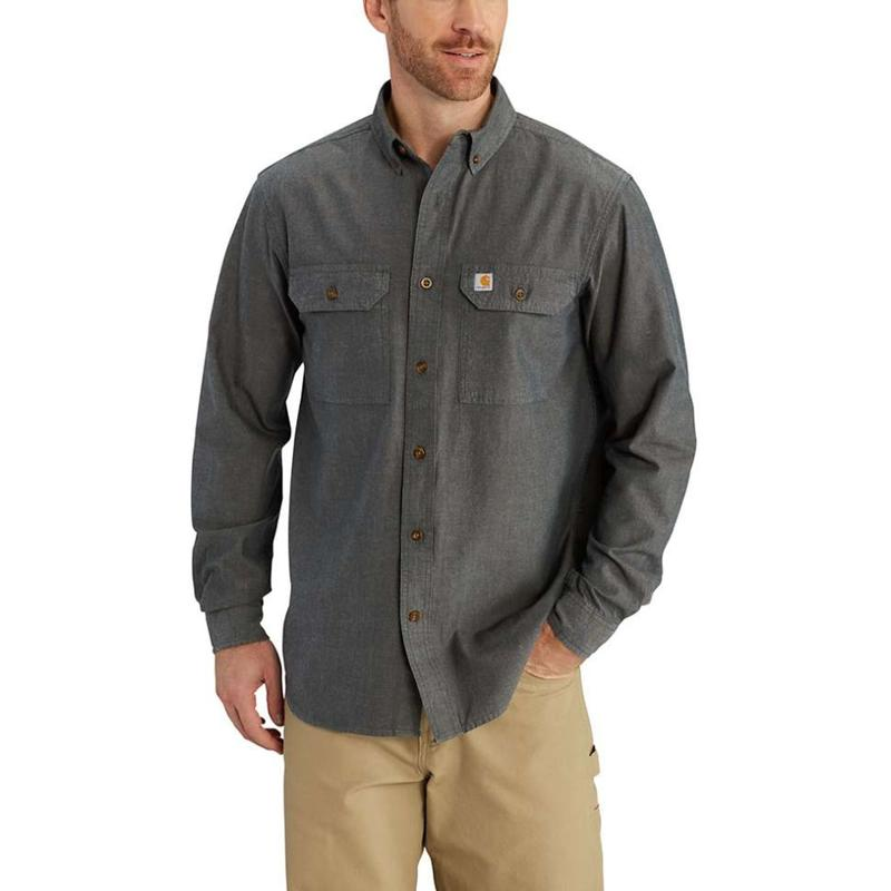 Carhartt men 39 s long sleeve chambray shirt s202 for Chambray 7 s