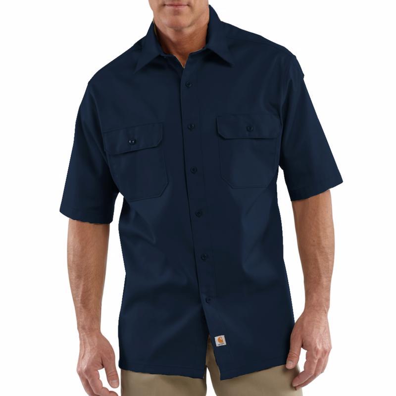 Carhartt Mens Twill Short-Sleeve Work Shirt-Irregular