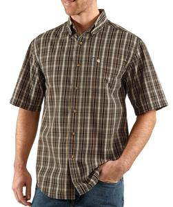 Carhartt Men's Short Sleeve Classic Plaid Shirt