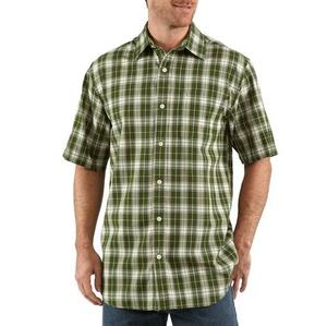 Carhartt Men's Lightweight Short Sleeve Plaid Shirt