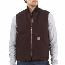 Carhartt Men's Sandstone Duck Arctic Vest - Quilt Lined V02
