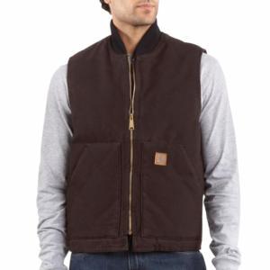 Carhartt Men's Sandstone Duck Arctic Vest - Quilt Lined