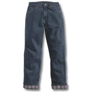Carhartt Women's Flannel Lined Relaxed Fit Straight Leg Jeans