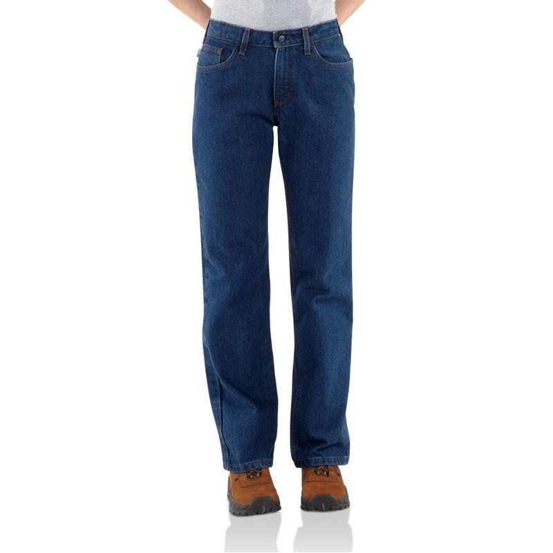 Carhartt Women's Flame Resistant Relaxed Fit Denim Jean-S...