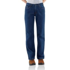 Carhartt Women's Flame Resistant Relaxed Fit Denim Jean-Straight leg