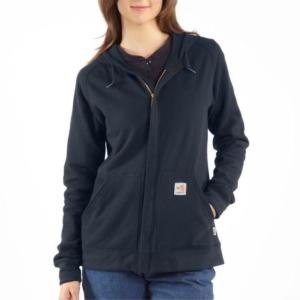 Carhartt Women's Flame Resistant Zip Front Hooded Sweatshirt