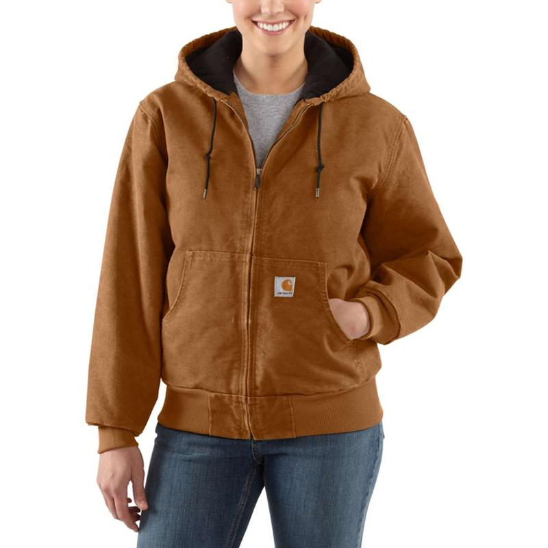 4367fc7503770 Carhartt Women's Sandstone Quilted Flannel Lined Active Jacket - Irr. Zoom.  Carhartt Brown Carhartt Brown