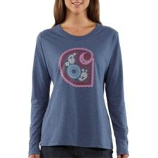 Carhartt Women's Paisley Long-Sleeve Crewneck T-Shirt WK062