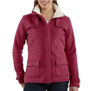 Carhartt Women's Sherpa Lined Sweat Jacket - Irregular