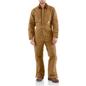 Carhartt Men's Quilt Lined Duck Coveralls - Irregular