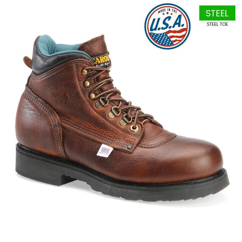 Carolina Men's 6 in. Steel Toe Boots - Made In USA