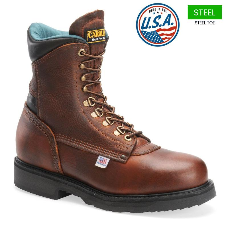 Carolina Men's 8 in. 1809 Steel Toe Boots - Made in USA