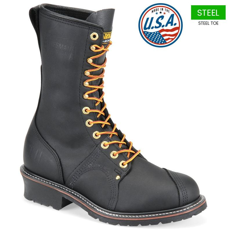 Carolina Men S 10 In Made In U S A Steel Toe Linesman