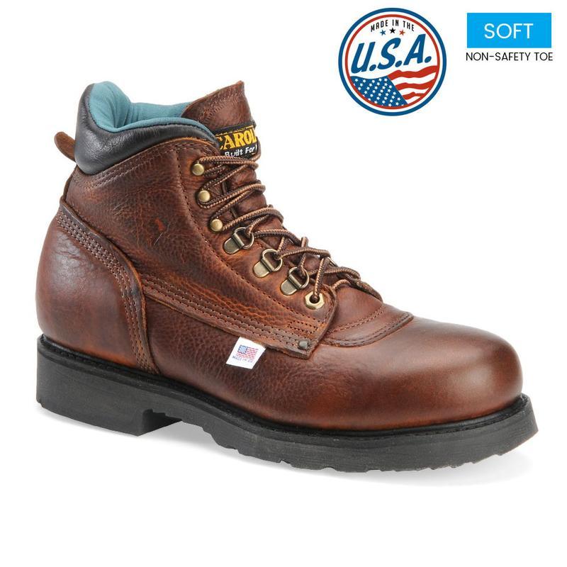 Carolina Men's Plain Toe 6 inch Work Boots - Made in USA 309