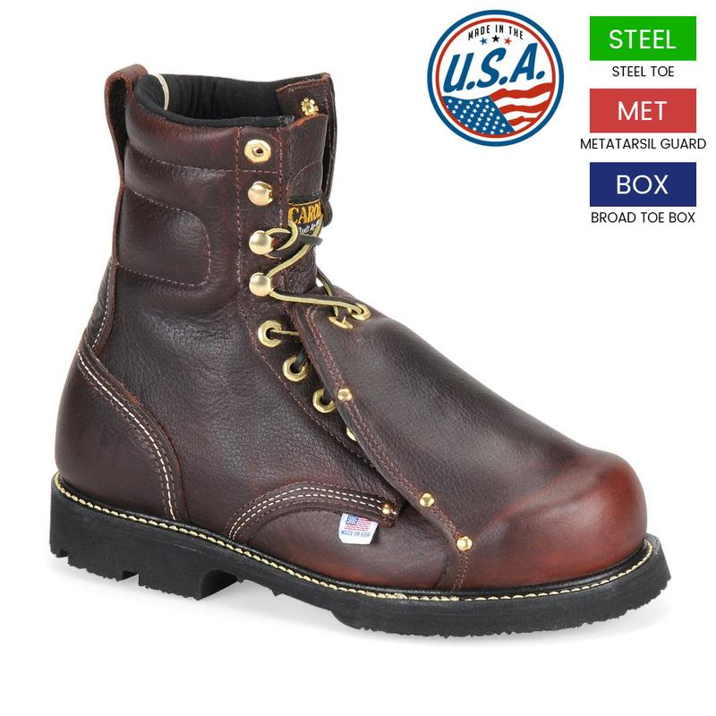 Carolina Men's 8 in.Metatarsal Steel Toe Boots - Made in USA