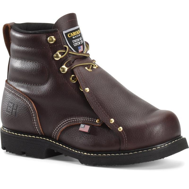 0c2e1e1792c Carolina Men's 6 in. Made in U.S.A. Steel Toe Metatarsal Guard Boots
