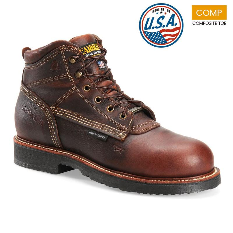 Carolina 6 in. Waterproof Composite Toe Boots-Made in USA