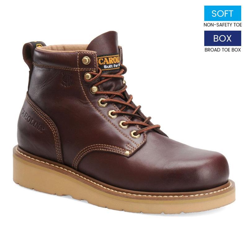 Carolina Men S 6 In Soft Broad Toe Wedge Boots Ca3049