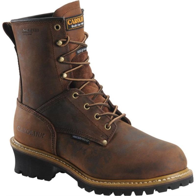 Carolina Men's 8 in. Waterproof Insulated Logger Boots CA4821