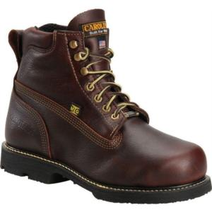 Carolina Men's 6 in. Internal Metguard  Broad Steel Toe Boots-MADE IN THE USA