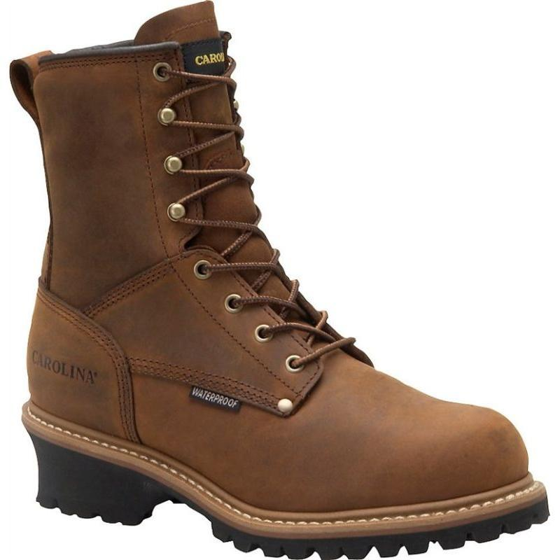 e09875c209b Carolina 8 in.Waterproof Insulated EH Steel Toe Logger Boots