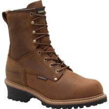 Carolina Men's CA5821 8 in. Waterproof Insulated EH Logger Steel Toe Boots CA5821