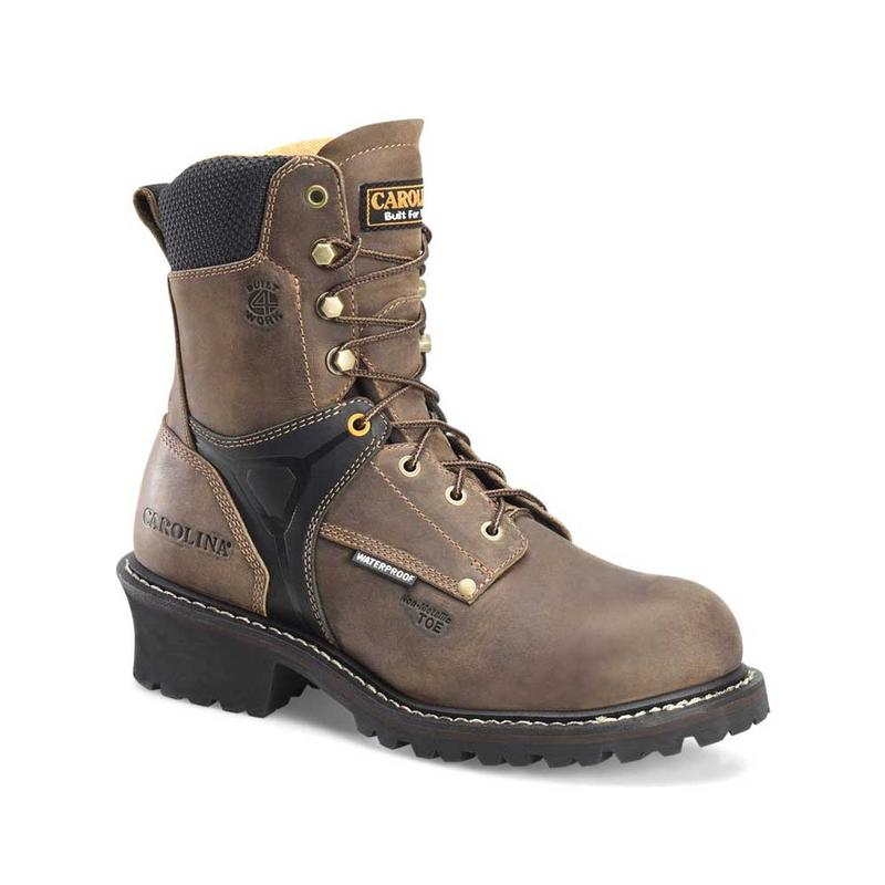 880168df2d4 Carolina Men's 8 in. Waterproof Composite Toe Logger Boot