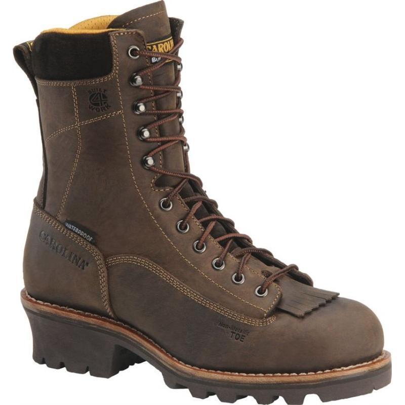 Carolina Men's 8 in. Waterproof  Logger Boots