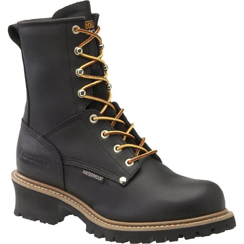 Carolina Men's 8 in. Plain Toe Logger Waterproof Boots