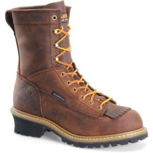 Carolina Men's  8 in. Waterproof Soft Toe Logger Boot