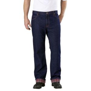 Dickies Relaxed Straight Fit Flannel Lined Jeans