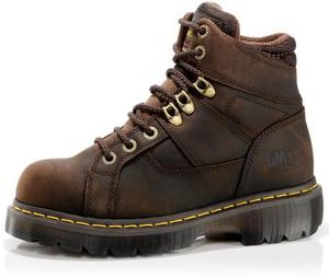 Dr. Martens Men's Industrial Steel Toe Ironbridge 8 Tie Lace to Toe Boot-Medium Width