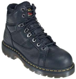 Dr. Martens Men's Industrial Steel Toe Ironbridge 8 Tie Lace to Toe Boot-Extra Wide Width