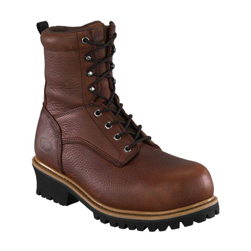 Florsheim Mens 9 In. Composite Toe EH WP Loogger Boots