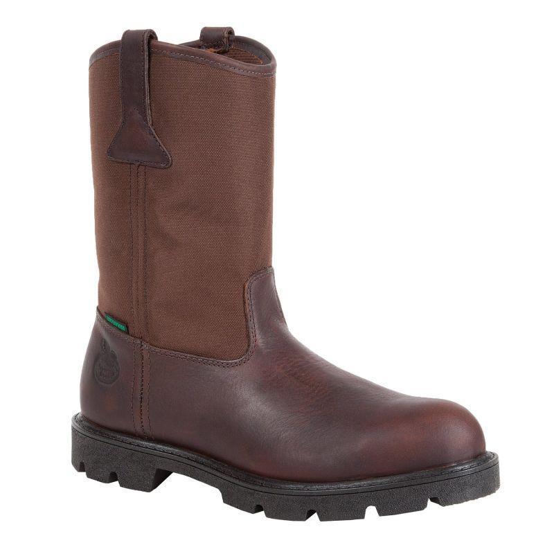 Georgia Mens Homeland Waterproof Wellington Work Boots G113